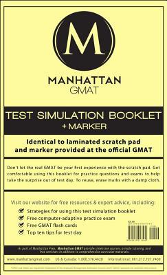 Manhattan GMAT Test Simulation Booklet By Manhattan Gmat Prep